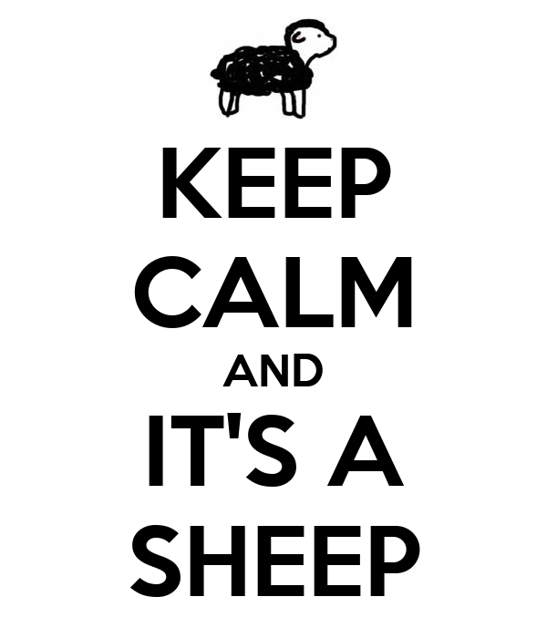 KEEP CALM AND IT'S A SHEEP
