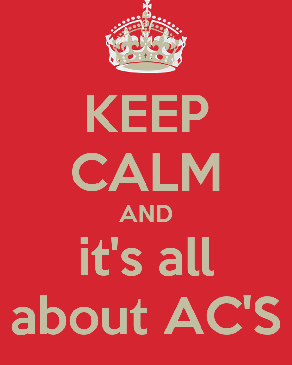 KEEP CALM AND it's all about AC'S