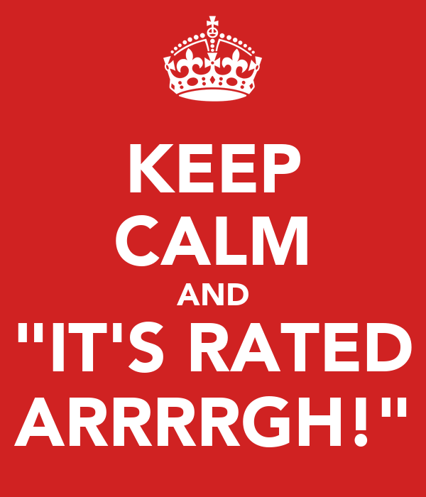 "KEEP CALM AND ""IT'S RATED ARRRRGH!"""