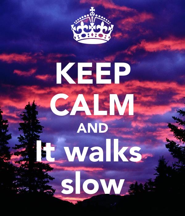 KEEP CALM AND It walks  slow