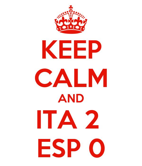 KEEP CALM AND ITA 2  ESP 0