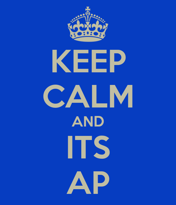 KEEP CALM AND ITS AP