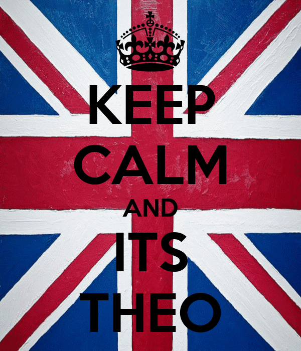 KEEP CALM AND ITS THEO