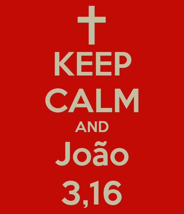 KEEP CALM AND João 3,16