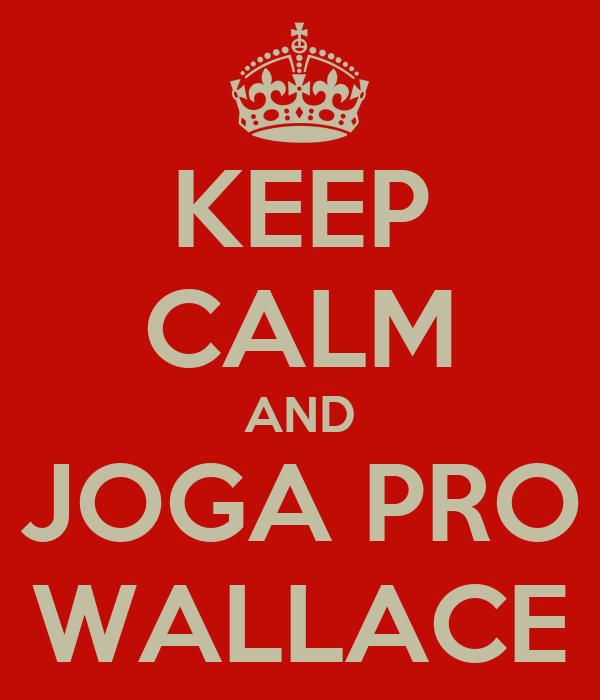 KEEP CALM AND JOGA PRO WALLACE