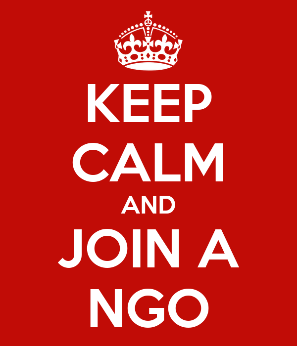 KEEP CALM AND JOIN A NGO