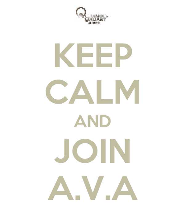 KEEP CALM AND JOIN A.V.A