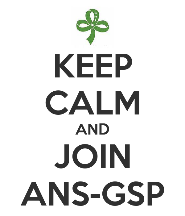 KEEP CALM AND JOIN ANS-GSP