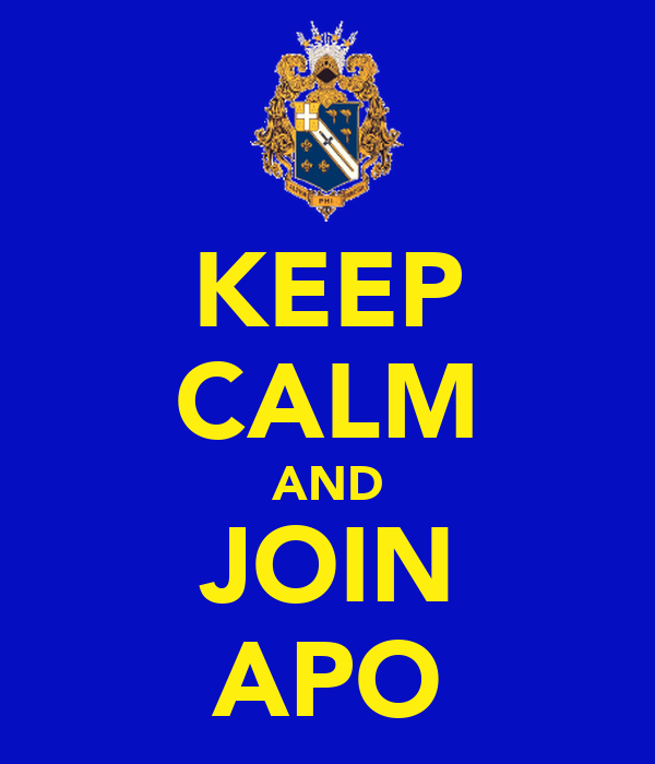 KEEP CALM AND JOIN APO