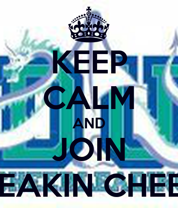 KEEP CALM AND JOIN DEAKIN CHEER