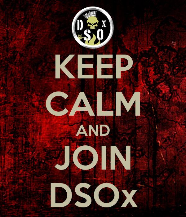 KEEP CALM AND JOIN DSOx