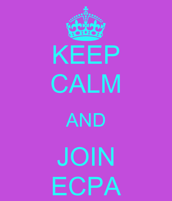 KEEP CALM AND JOIN ECPA