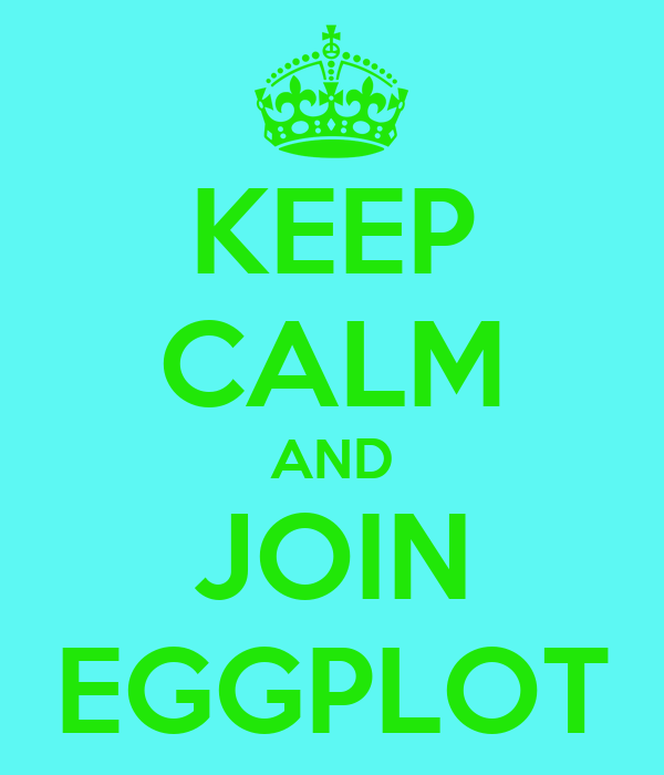 KEEP CALM AND JOIN EGGPLOT