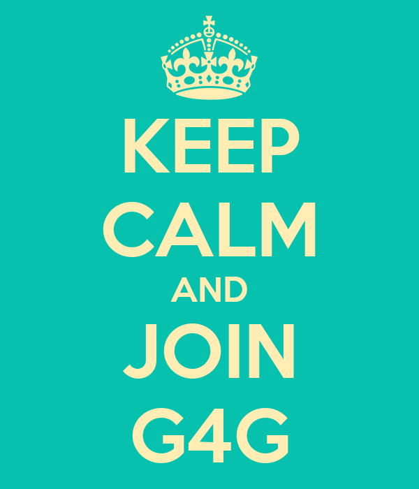 KEEP CALM AND JOIN G4G