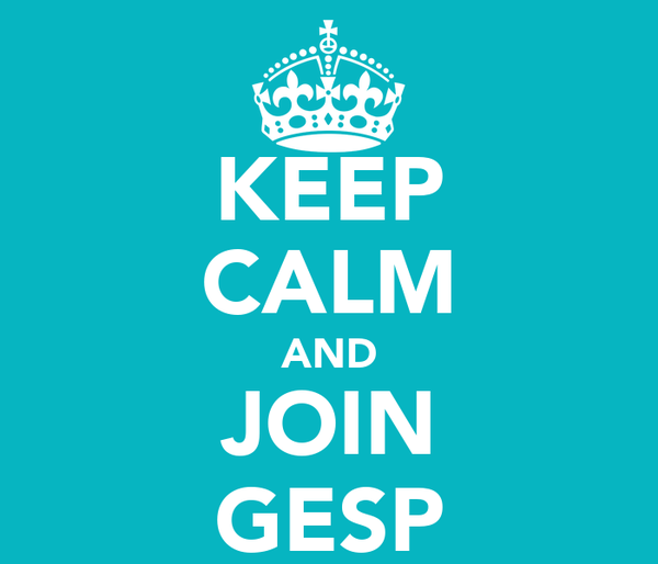 KEEP CALM AND JOIN GESP
