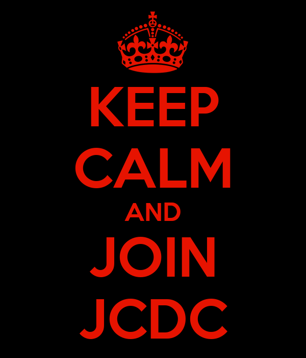 KEEP CALM AND JOIN JCDC