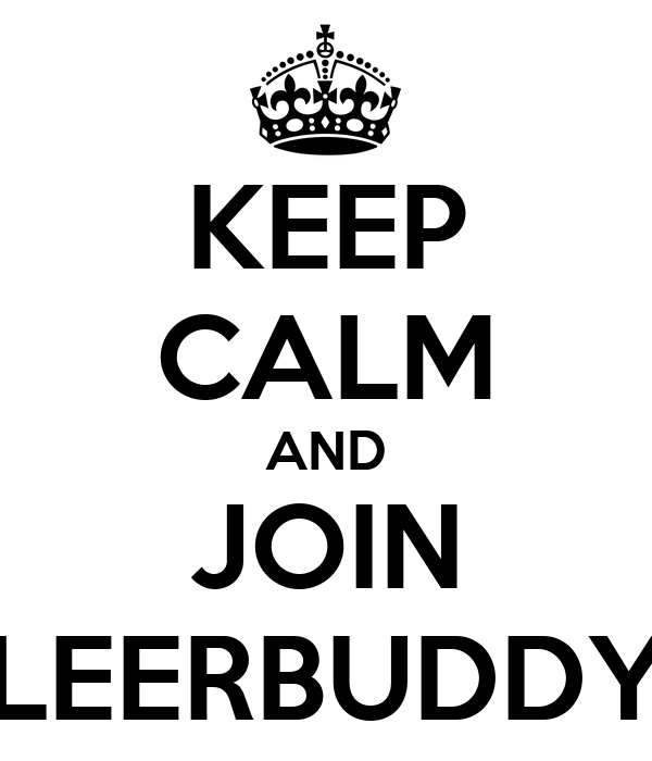 KEEP CALM AND JOIN LEERBUDDY