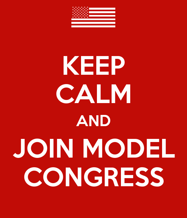 KEEP CALM AND JOIN MODEL CONGRESS