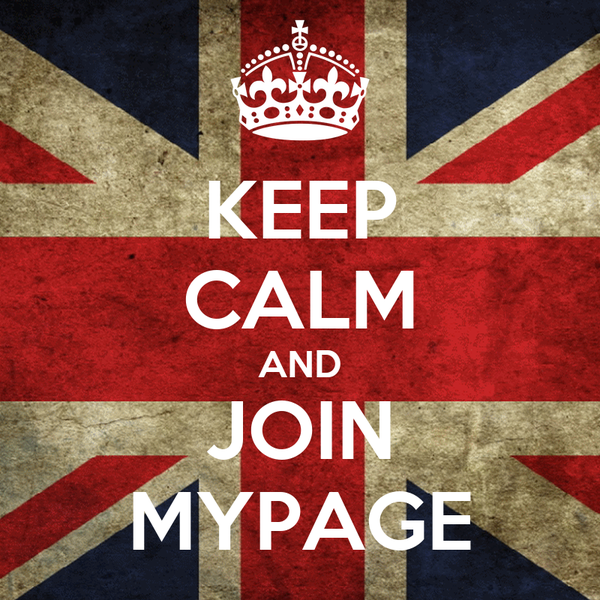 KEEP CALM AND JOIN MYPAGE