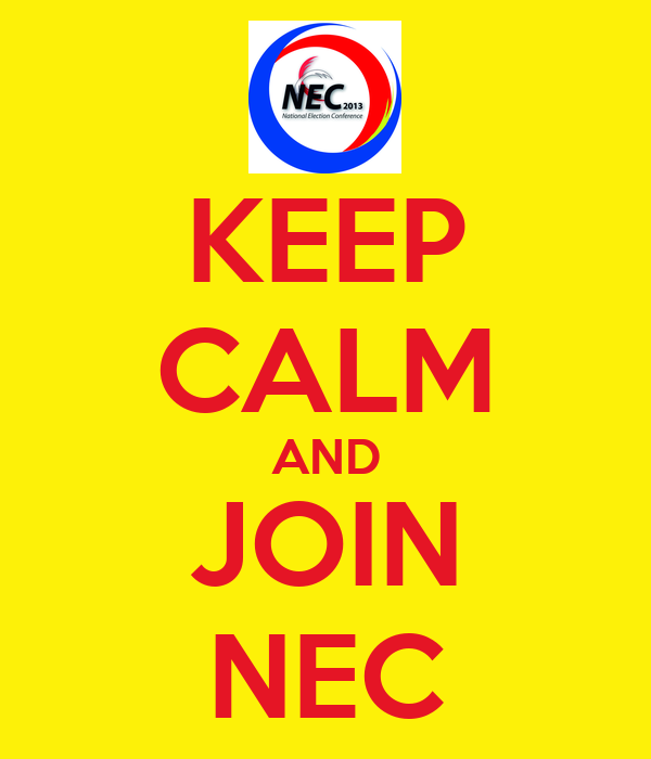 KEEP CALM AND JOIN NEC