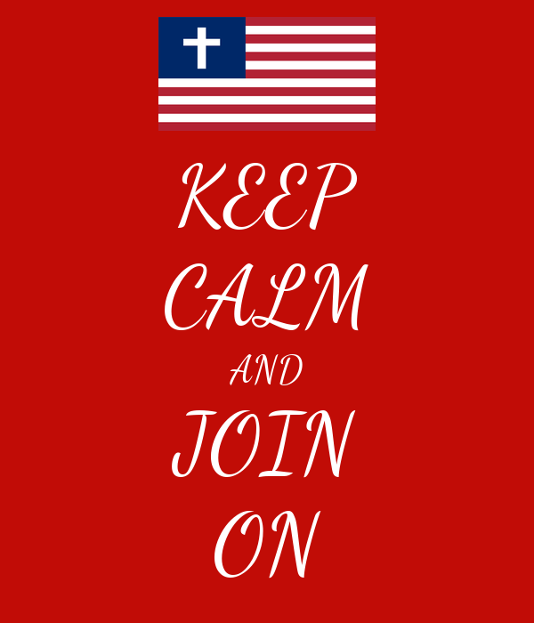 KEEP CALM AND JOIN ON