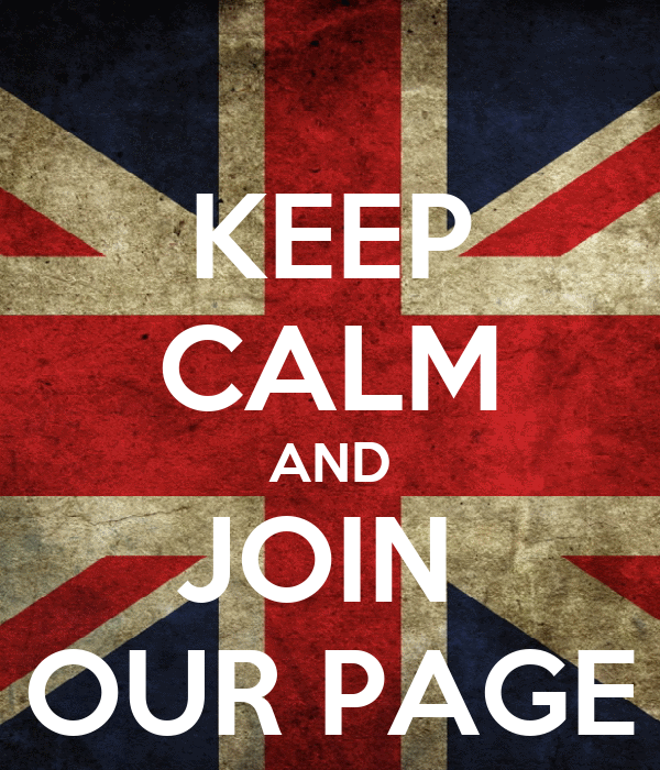 KEEP CALM AND JOIN  OUR PAGE