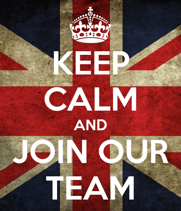 KEEP CALM AND JOIN OUR TEAM
