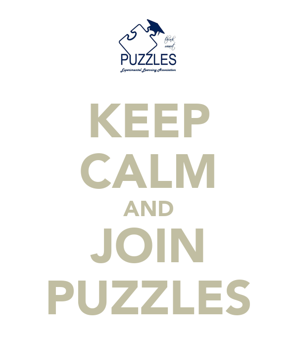 KEEP CALM AND JOIN PUZZLES