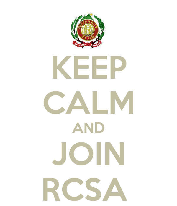 KEEP CALM AND JOIN RCSA