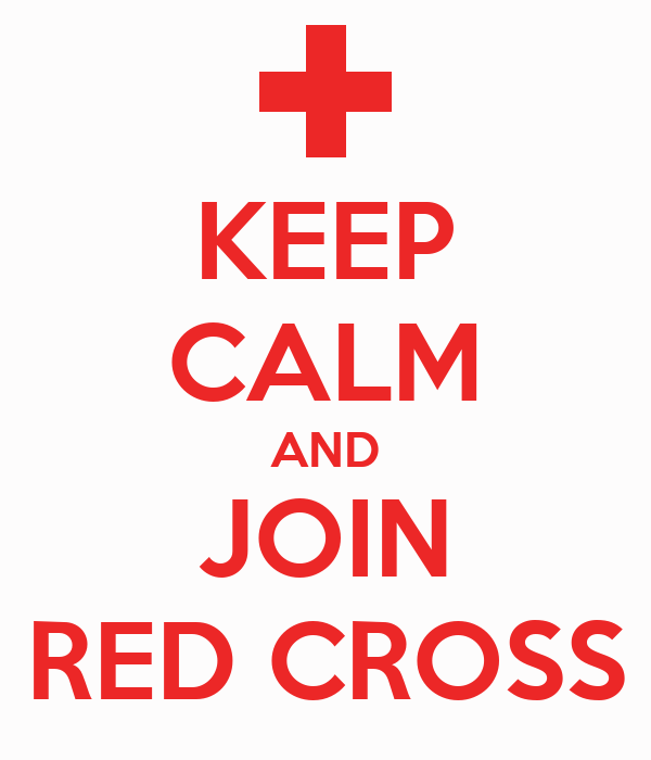 KEEP CALM AND JOIN RED CROSS
