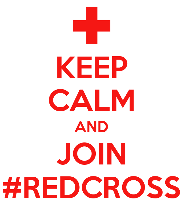 KEEP CALM AND JOIN #REDCROSS