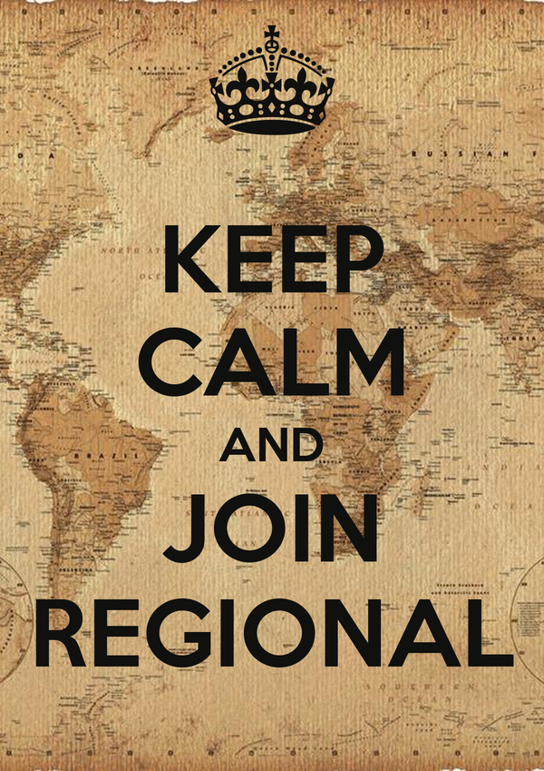 KEEP CALM AND JOIN REGIONAL