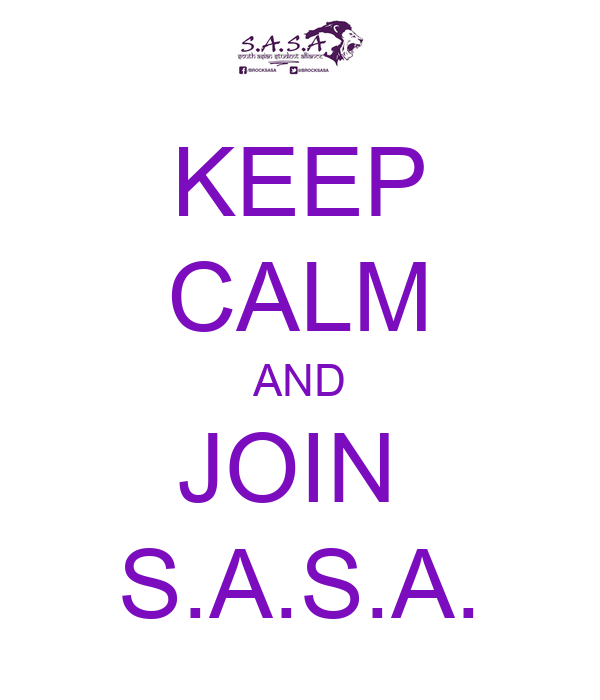KEEP CALM AND JOIN  S.A.S.A.