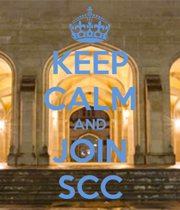 KEEP CALM AND JOIN SCC