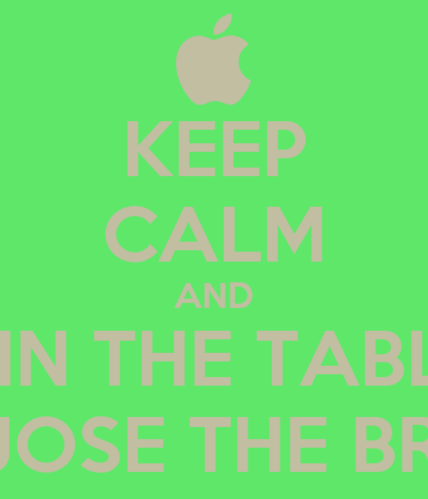 KEEP CALM AND JOIN THE TABLET WITH JOSE THE BRANCH