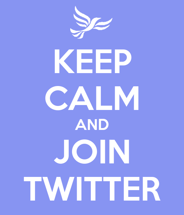 KEEP CALM AND JOIN TWITTER