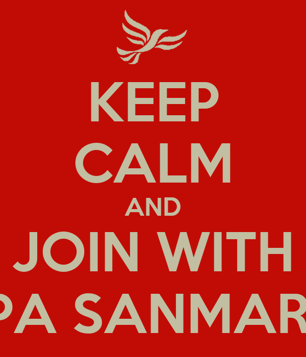 KEEP CALM AND JOIN WITH PPA SANMARE