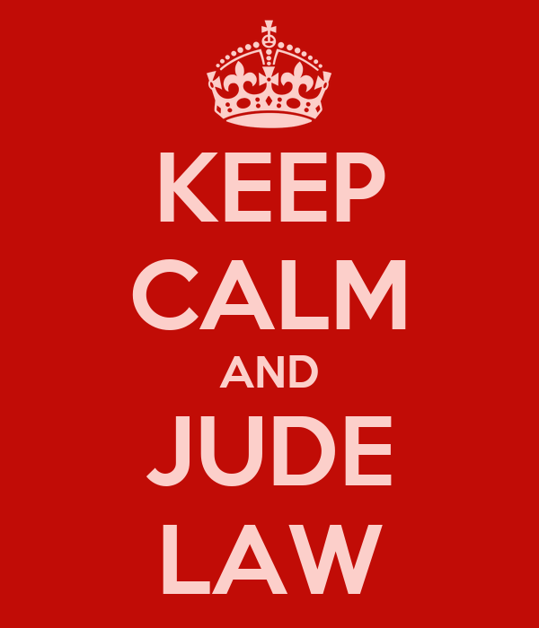 KEEP CALM AND JUDE LAW