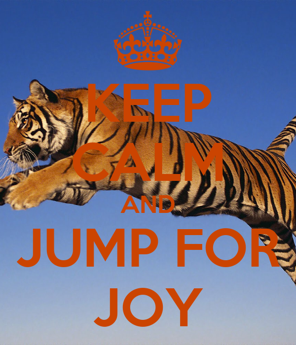 KEEP CALM AND JUMP FOR JOY