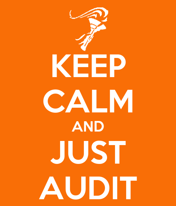 KEEP CALM AND JUST AUDIT
