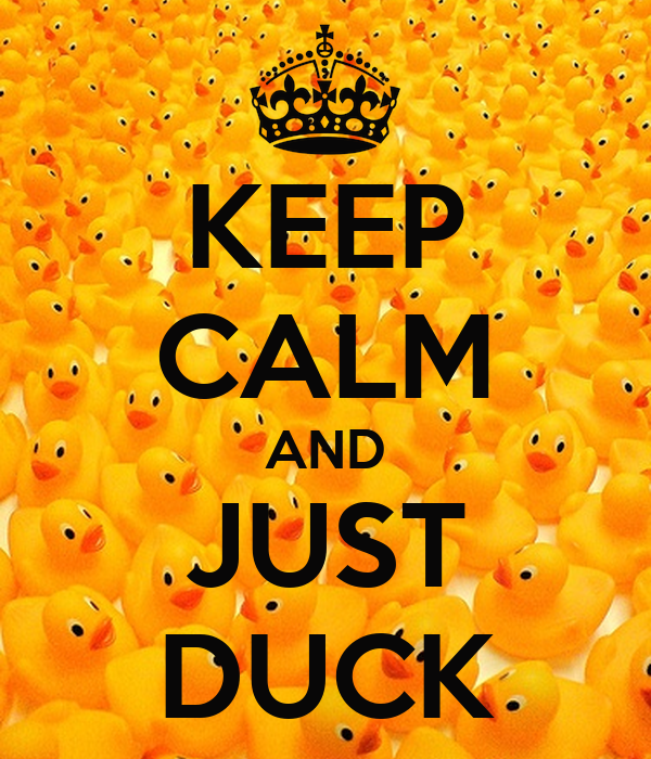 KEEP CALM AND JUST DUCK
