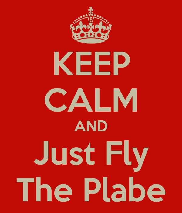 KEEP CALM AND Just Fly The Plabe