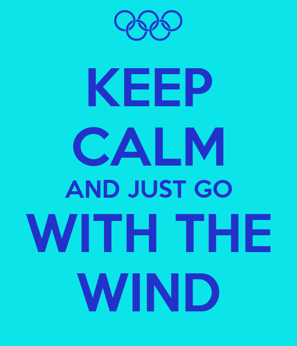 KEEP CALM AND JUST GO WITH THE WIND