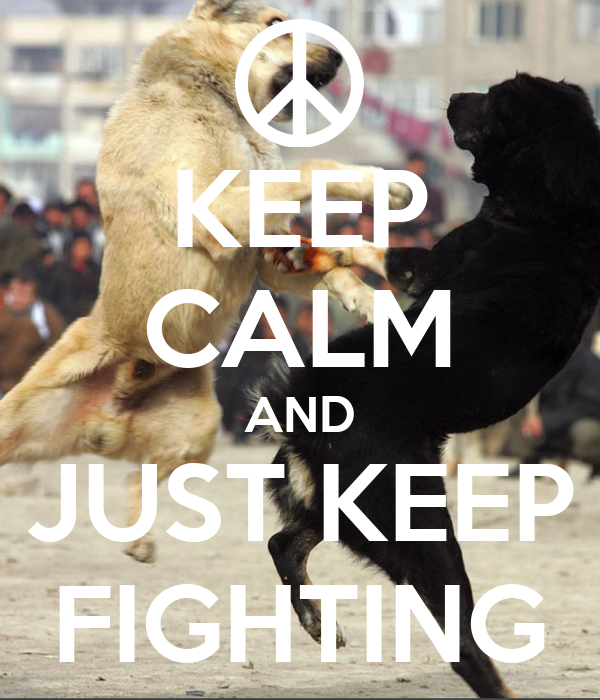 KEEP CALM AND JUST KEEP FIGHTING