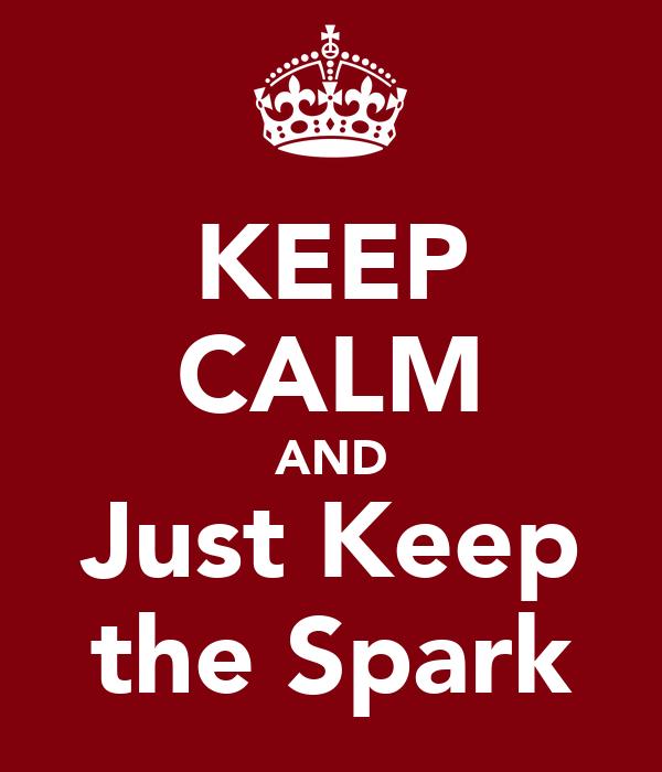 KEEP CALM AND Just Keep the Spark