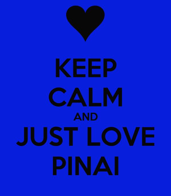 KEEP CALM AND JUST LOVE PINAI
