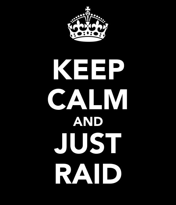 KEEP CALM AND JUST RAID
