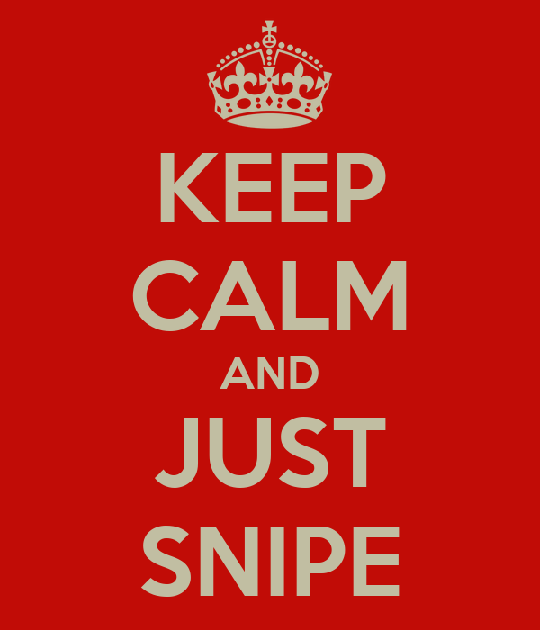 KEEP CALM AND JUST SNIPE