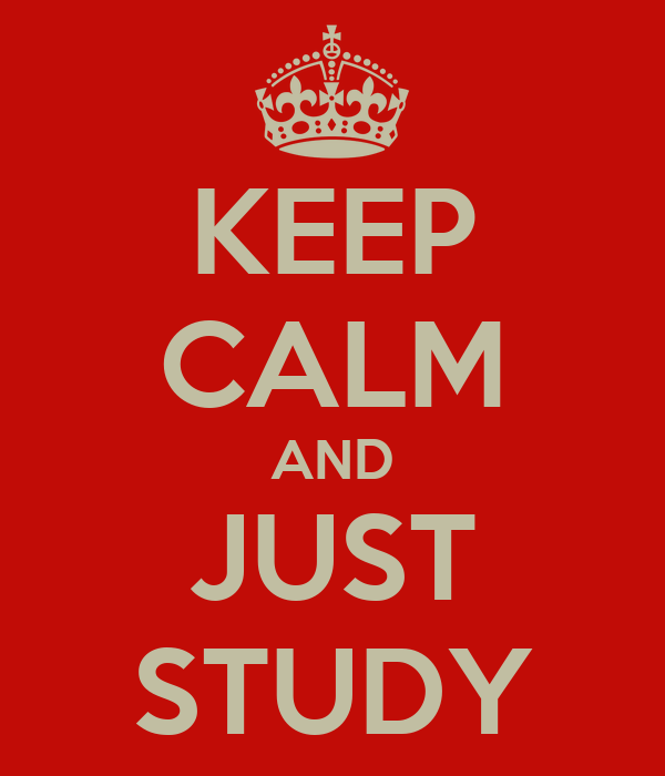 KEEP CALM AND JUST STUDY