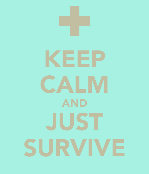KEEP CALM AND JUST SURVIVE